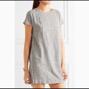 Madewell Daphne striped linen blend mini dress M